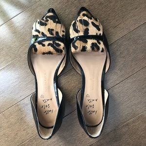 NWT - BR -Leopard leather flats